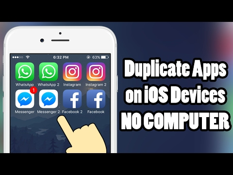 How to duplicate APPS on iOS 10 - iOS 10 3 3 - without a