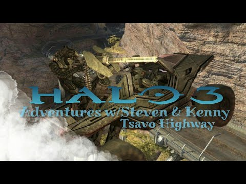 """""""WE MUST HAVE THE WARTHOG!"""" Adventures w/Steven & Kenny   Halo 3 Campaign - Tsavo Highway"""