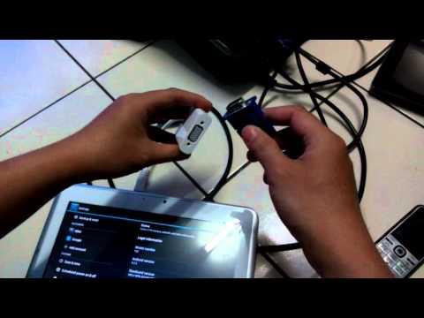 Video Cara menghubungkan Tab Advance T3C ke Projector Infokus dengan menggunakan HDMI dan VGA