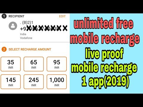 Unlimited mobile recharge 2019 👍 vodi app free unlimited mobile