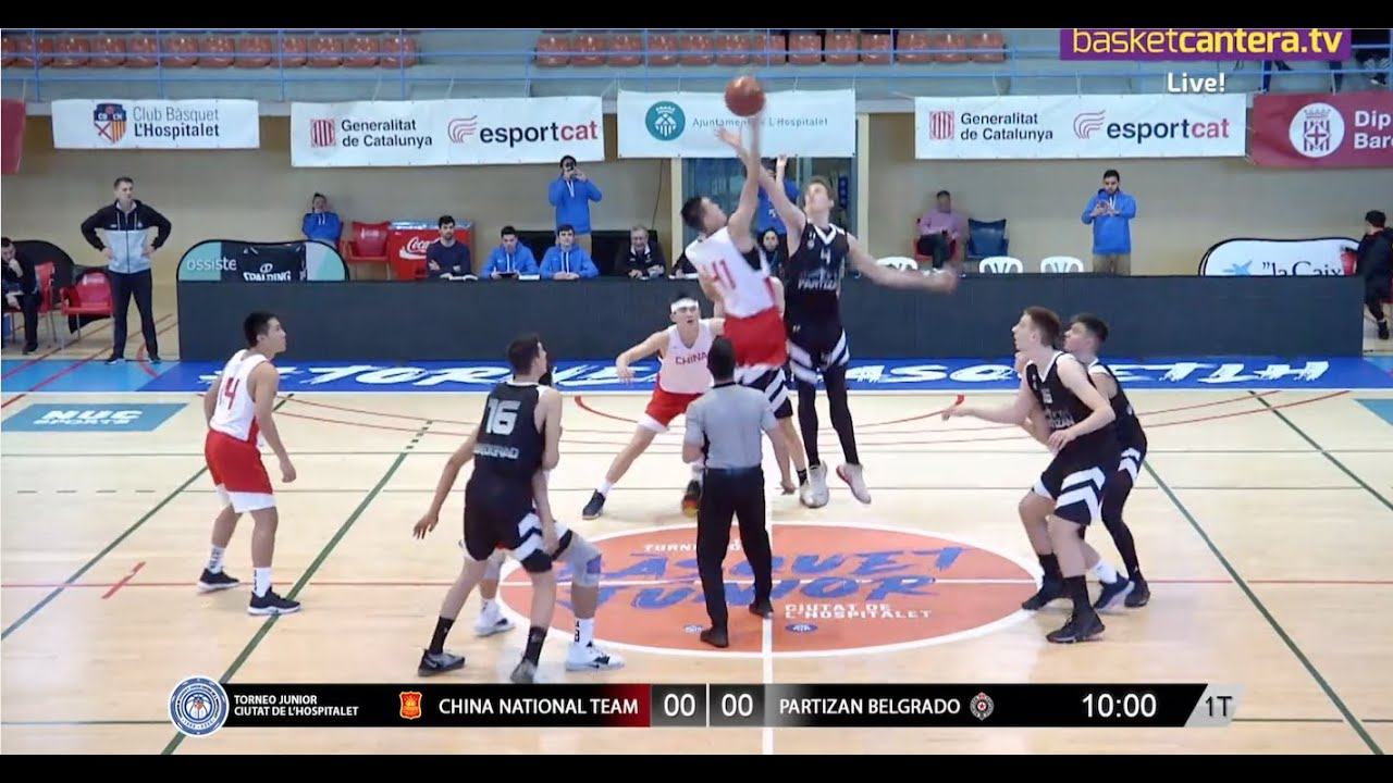 U18M - CHINA NATIONAL TEAM vs PARTIZAN BELGRADO.- Torneo Junior L´Hospitalet 2020