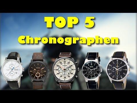 Die 5 schönsten Herren Chronographen mit Lederband 2018 / 2019