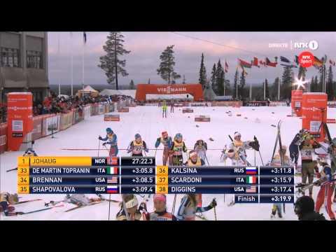 Heidi Weng går feil - Kuusamo 10 km jaktstart