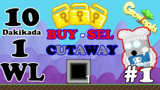 Growtopia | 10 Dakikada 1 WL Kasma #1 (Cutaway)