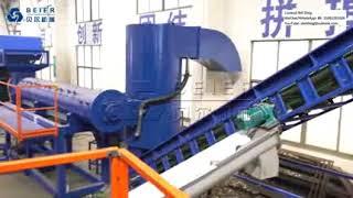 Pet washing and recycling line Beier Machinery fiber grade