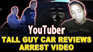 Police Dash Cam Video of Tall Guy Car Reviews arrest