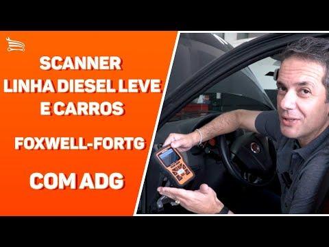 Scanner Leitor de Códigos de Falhas Linha Diesel Leve e Carros Foxwell - OBDII/CAN - Video