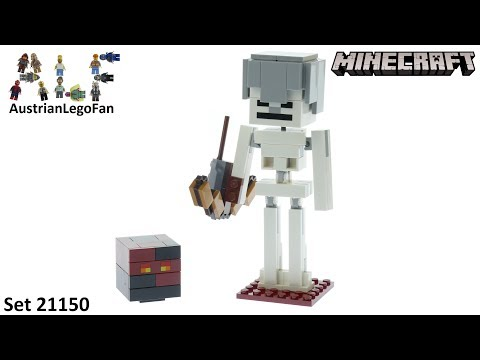 Vidéo LEGO Minecraft 21150 : Bigfigurine Minecraft Squelette avec un cube de magma
