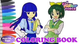 Glitter Force Coloring Book Compilation April Chloe Happy Magic Toys