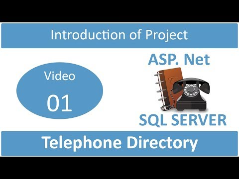 introduction of telephone directory project in asp.net