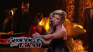 "Emily West: Singer Shines With ""Nights In White Satin"" Cover - America's Got Talent 2014"
