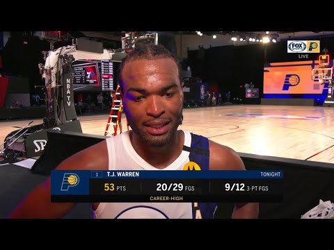 """T.J. Warren on the Pacers' """"all-around team effort"""" against the 76ers"""