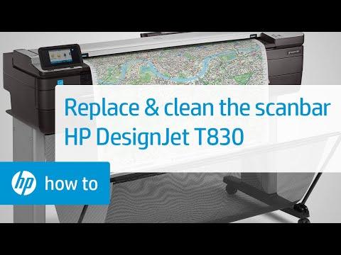 Hướng dẫn vệ sinh thanh quét Máy in đa chức năng HP DesignJet T830