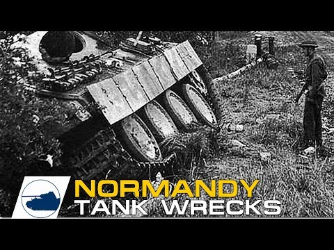 D-DAY Normandy Plus Destroyed German and Allied tanks and