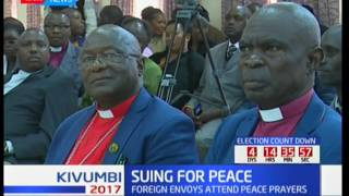 The clergy and diplomats unite to call for peaceful elections, Suing for peace