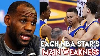 Each NBA Star's MAIN WEAKNESS! LeBron James Stephen Curry & More