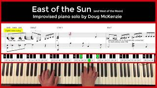 East Of The Sun - jazz piano tutorial