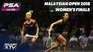 Squash: Watanabe v Low - Malaysian Open 2018 - Women