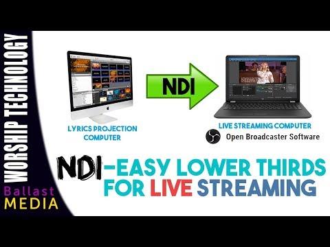 NDI - Easy Lower Thirds on your Live Stream - OBS Walkthrough - Музыка для  Машины