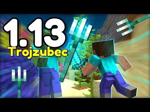 Minecraft 1.13 Novinky! - TESTOVÁNÍ NOVÉHO TROJZUBCE V PVP! (Aquatic Update)