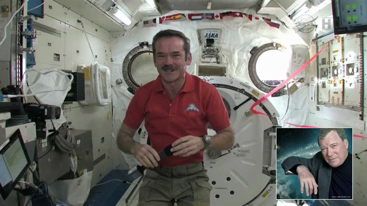 Watch Commander Hadfield Have A Space-Chat With Captain Kirk On The ISS