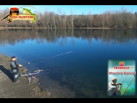 La pesca nelle mani video invernali