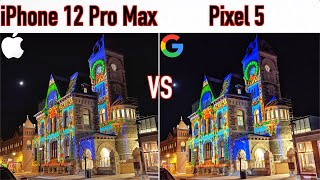 iPhone 12 Pro Max VS Google Pixel 5 - Camera Comparison!