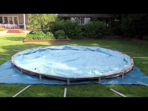 Intex Ultra Frame Swimming Pool Set-Up from InTheSwim.com