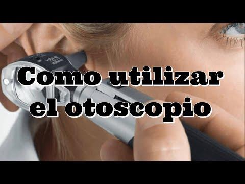 Como usar el otoscopio
