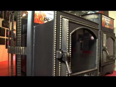 Дровяная печь для бани Везувий Скиф 16 Ч (видео)