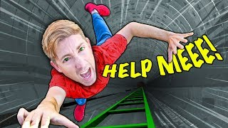 CHAD CLIMBS DOWN SECRET UNDERGROUND TUNNEL Water Slide Inside Hatch Beneath Safe House Escape Room