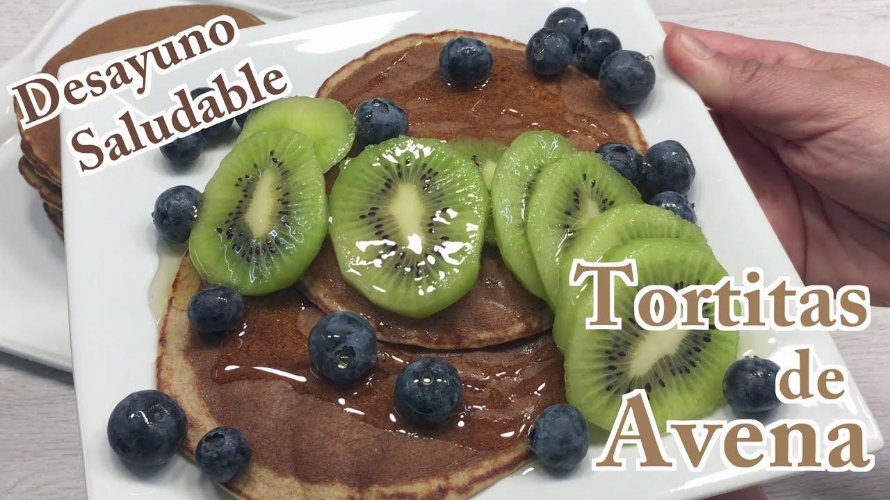 Tortitas de Avena | Cómo hacer Tortitas de Avena y Plátano | Desayuno Saludable | Receta Tortitas