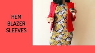 How to Hem Blazer Sleeves without Button Placket