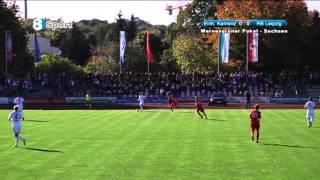 preview picture of video 'SV Einheit Kamenz - RB Leipzig (Wernesgrüner Pokal-Sachsen, ⅛-Finale) 13.10.2012'