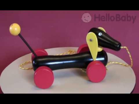 Brio Dachshund - Wooden Pull along toy