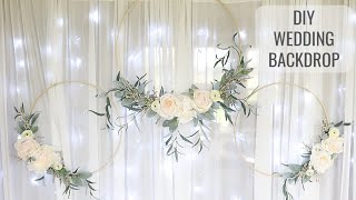 How To Make A Wedding Background  | Wedding Backdrop