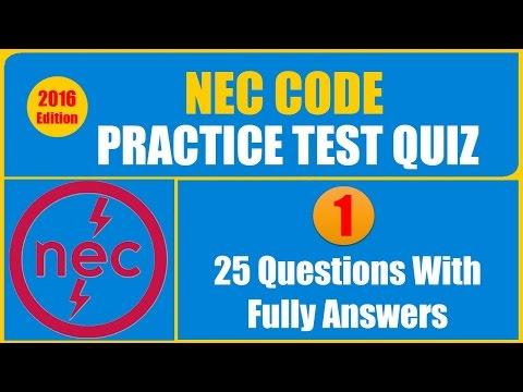 NEC Code Practice Test Quiz - YouTube