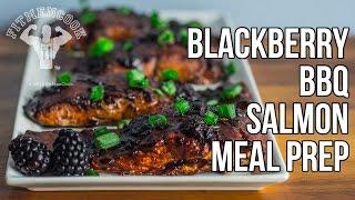 Blackberry BBQ Salmon Bodybuilding Meal Prep / Salmón con Salsa de Mora
