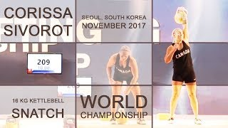 Corissa Sivorot | 16 kg kettlebell snatch @ IUKL Kettlebell World Championships 2017 (Seoul, Korea)