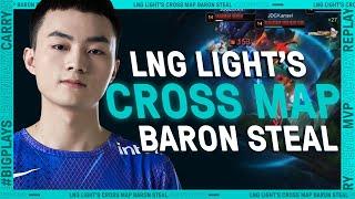 LNG Light's Cross Map Baron Steal | League Mixtape