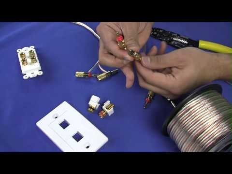 How To Install Banana Plugs and Banana Plug Wall Plates