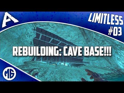 REBUILDING: CAVE BASE!!! Ark: Survival Evolved - Thủ thuật