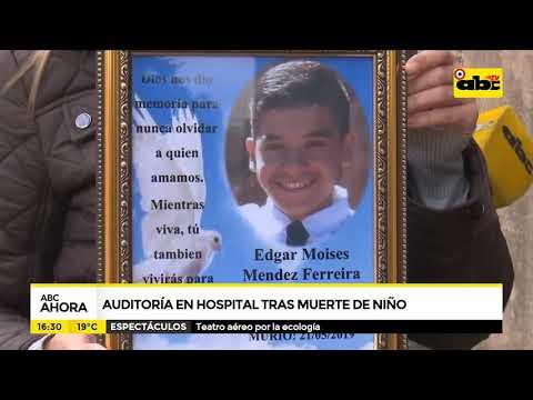 Auditoría en hospital tras muerte de niño