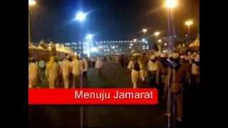 preview picture of video 'Video Haji Reguler Indonesia - Menuju Jamarat'