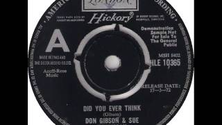 "Don Gibson & Sue Thompson ""Did You Ever Think"""