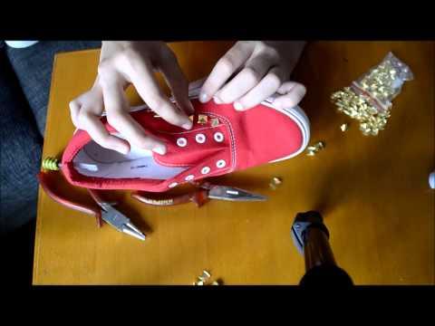 DIY/ Schuhe mit Nieten/ einfach zum nachmachen