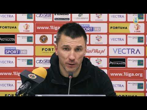 Konferencja prasowa po meczu Chrobry Głogów - Stomil Olsztyn