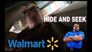 HIDE AND SEEK INSIDE WALMART! (KICKED OUT)