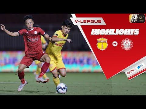 Highlights   DNH Nam Định - TP. HCM   Hoàng Thiên lập siêu phẩm mang về 1 điểm quý giá   VPF Media
