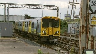 preview picture of video 'Chester 1.7.2014 - Merseyrail Class 507 507016 in new livery'